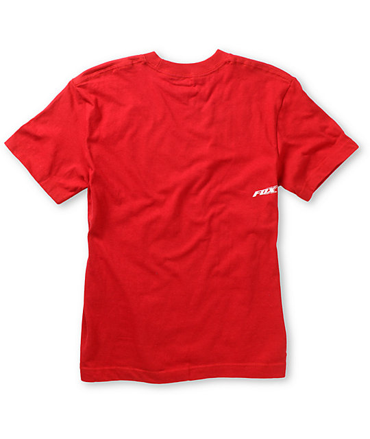 Fox Boys Spillage Red T-Shirt