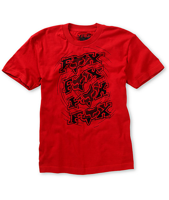 Fox Boys Spun Out Red T-Shirt