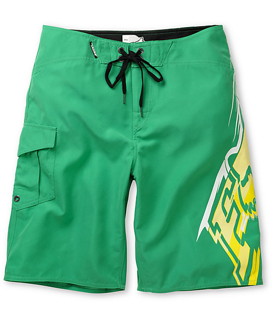 Fox Circuit Green Board Shorts