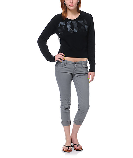 Fox Competition Mesh Back Crew Neck Sweatshirt