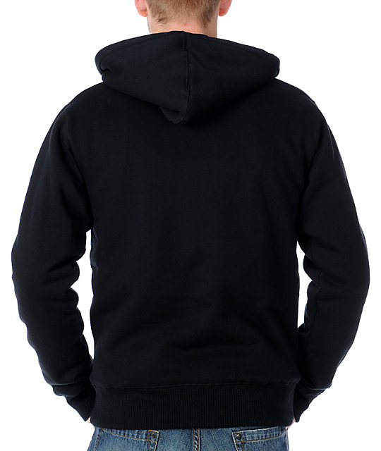 Fox Covert Black Sasquatch Zip Up Hoodie