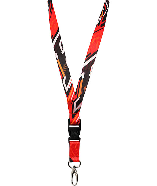 Fox Double Down Red Lanyard