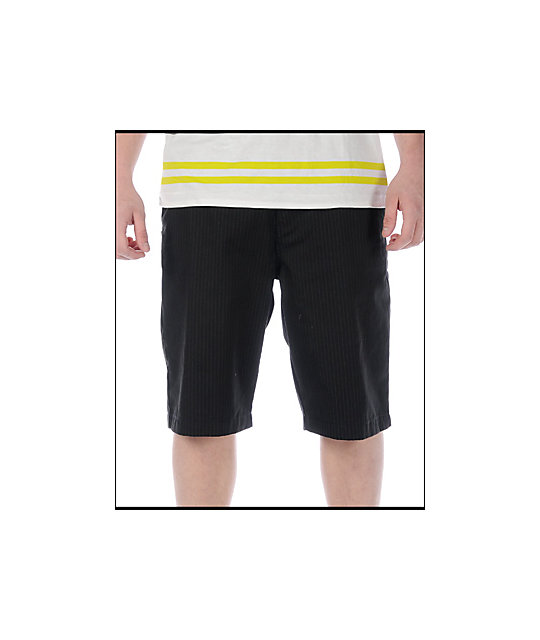 Fox Essex Pinstripe Black Shorts