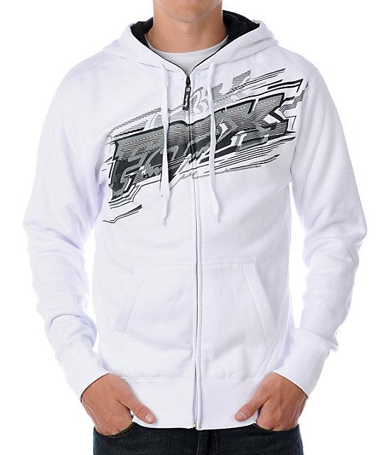 Fox Flash White Hoodie