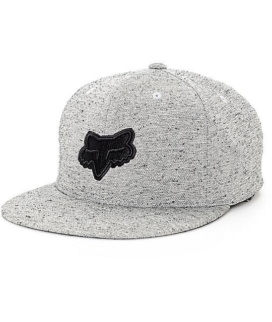 Fox Fret Grey Snapback Hat