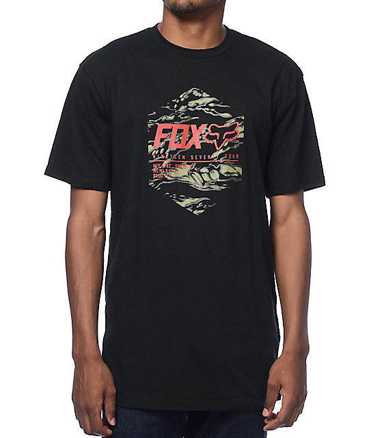 Fox full boar black t shirt for Full black t shirt
