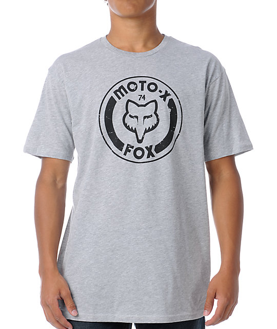 Fox Heritage Heather Grey T-Shirt