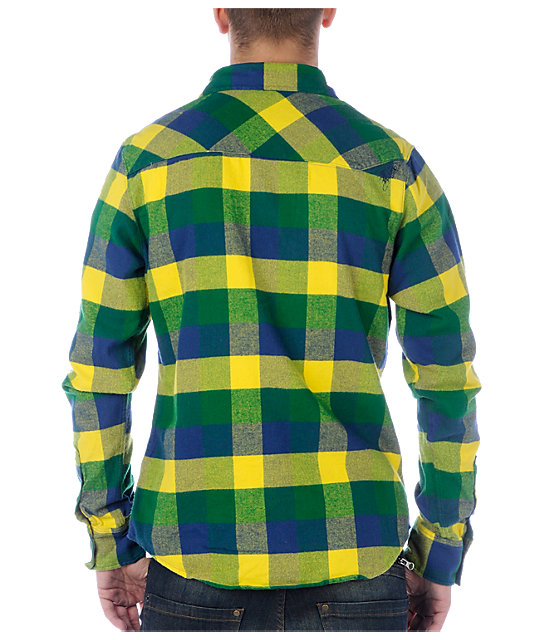 Fox Indecision Green Flannel Shirt