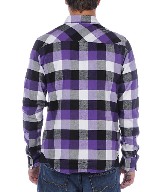 Mens Purple Flannel Shirt