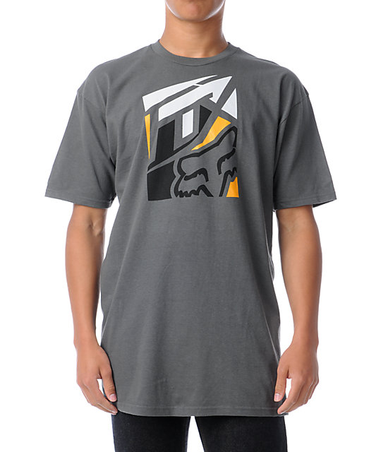Fox Knocked Out Grey T-Shirt