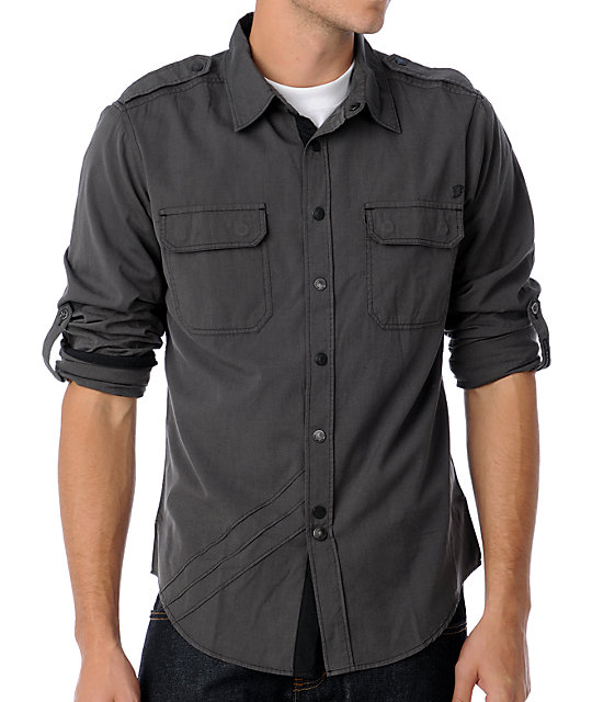 Fox Leonard Black Woven Shirt