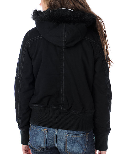 Fox Lexie Black Bomber Jacket