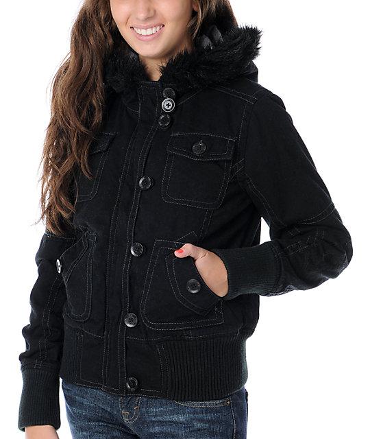 Fox Lexie Black Bomber Jacket