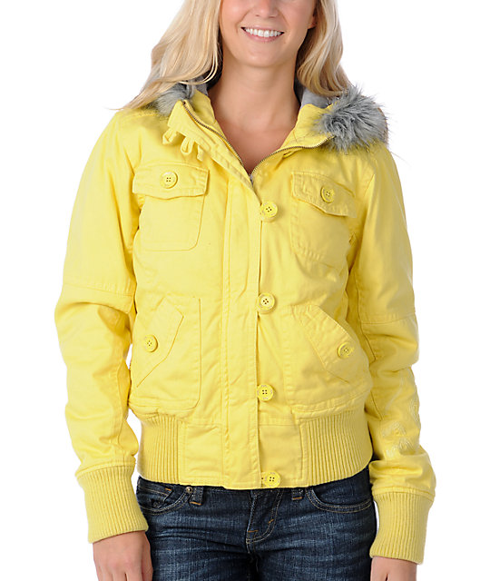 Fox Lexie Yellow Bomber Jacket