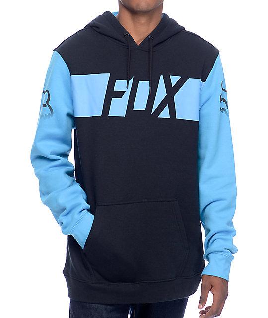 Fox Libra Black & Aqua Hoodie