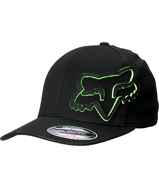 Fox Longo Black & Lime Flexfit Hat