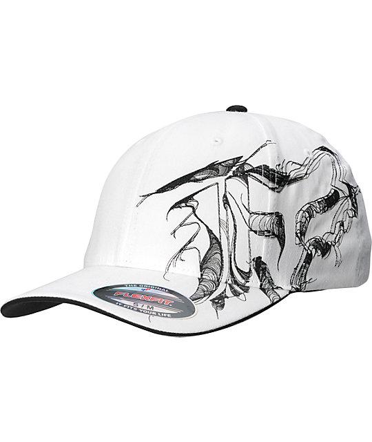 Fox Mens Contour White Flexfit Hat