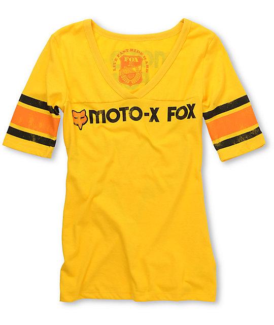 Fox Moto-X Yellow Football T-Shirt