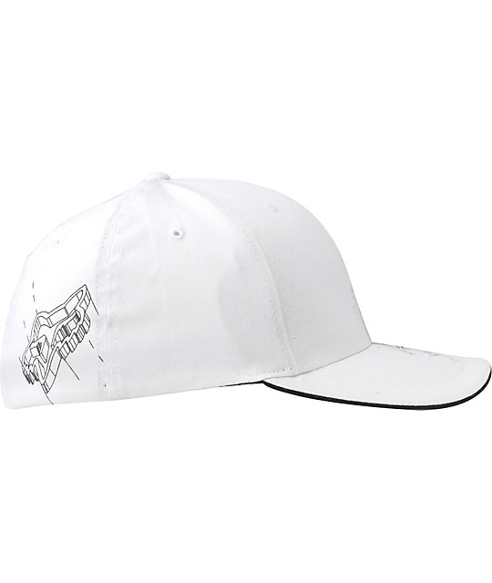 Fox Out Of Nowhere White Flexfit Hat