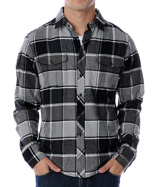 Fox Ozzwald Black Flannel Shirt