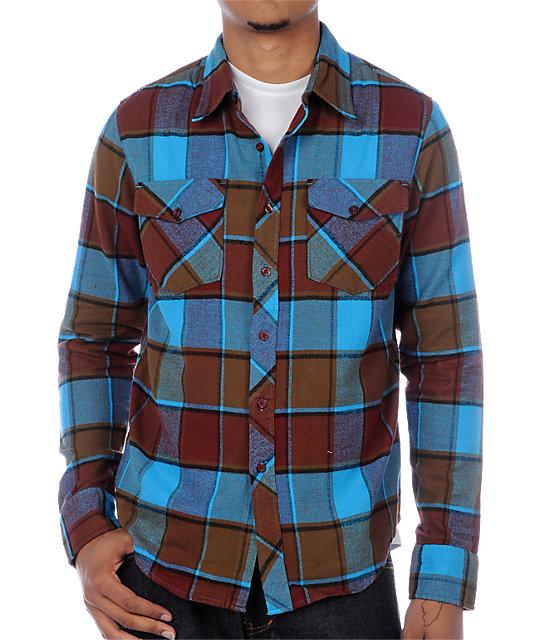 Fox Ozzwald Blue & Red Flannel Shirt