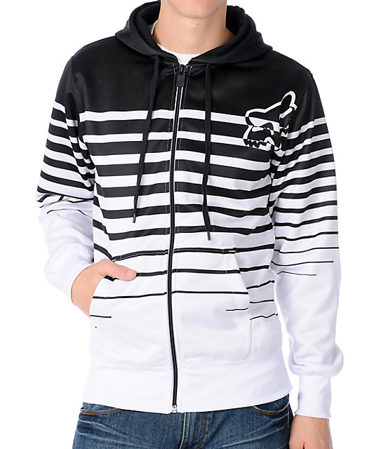 Fox Powerlines Black Tech Fleece Jacket