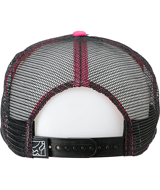 Fox Prime Lap Black & Pink Trucker Hat