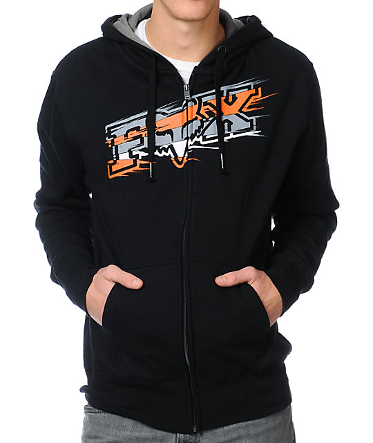 Fox Sharpstreak Black Zip Up Hoodie