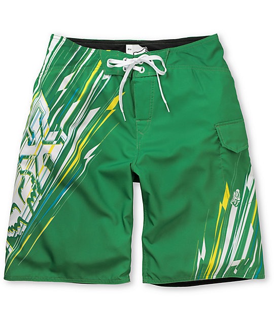 Fox Showdown Green Board Shorts