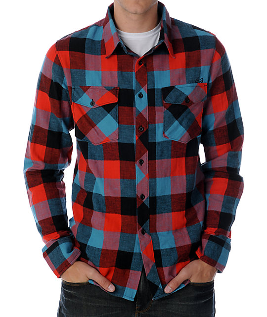 An easy throw-on-and-go piece, add this Blue, Red and Yellow Plaid Cotton Flannel to your weekend mix. Its soft face presents a classic plaid in blue, red, yellow and white. With a relaxed drape, create button-ups and comfy tops for fall and winter.