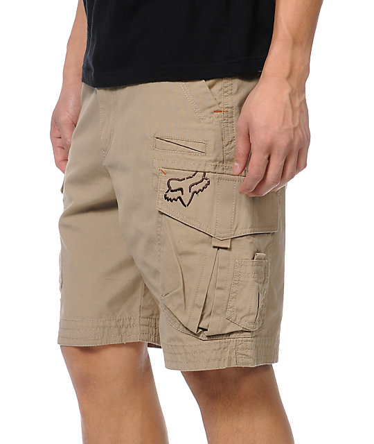 Fox Slambozo Dark Khaki Cargo Shorts