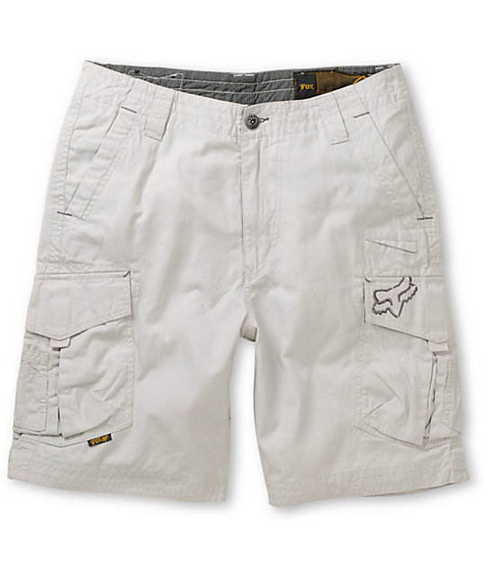 Fox Slambozo Light Grey Cargo Shorts
