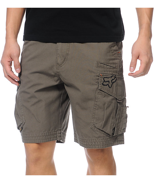Fox Slambozo Military Dark Green Cargo Shorts