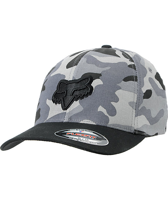 Fox Squad Black & Grey Camo Flexfit Hat