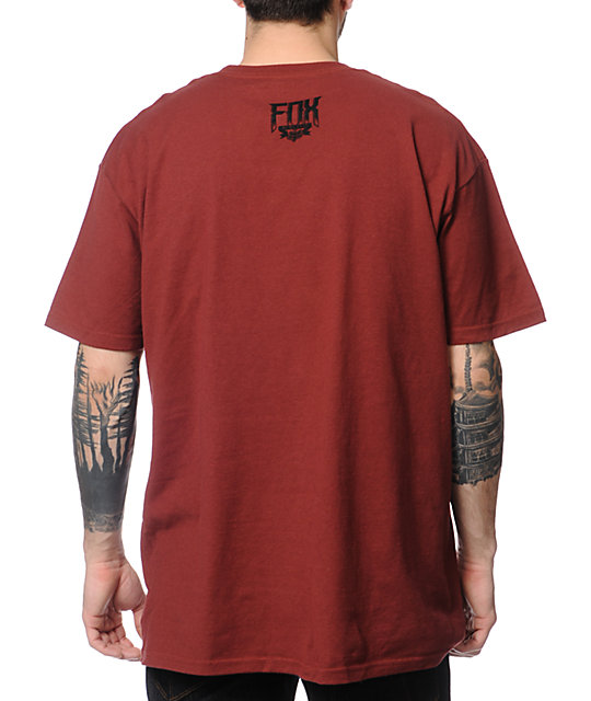Fox Summit Burgundy T-Shirt