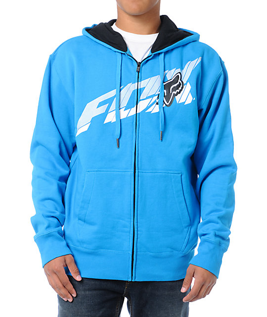 Fox Superfaster Blue Zip Up Hoodie