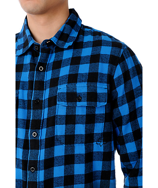 Fox Taylor Blue Dip Dyed Flannel Shirt