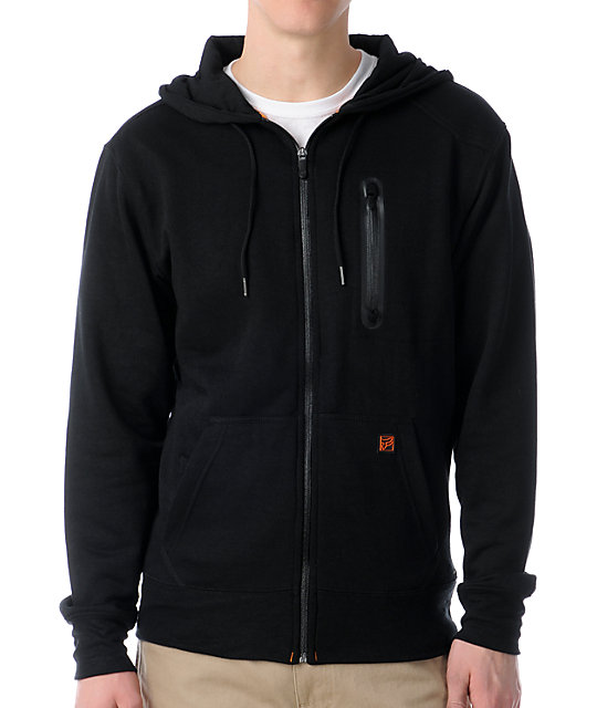 Fox Transport Black Zip Up Hoodie at Zumiez : PDP