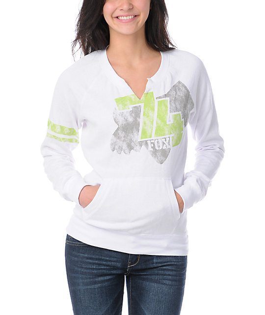 Fox Tricks White Crew Neck Sweatshirt