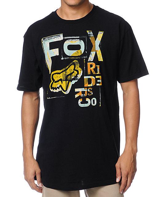 Fox Typo Black T-Shirt
