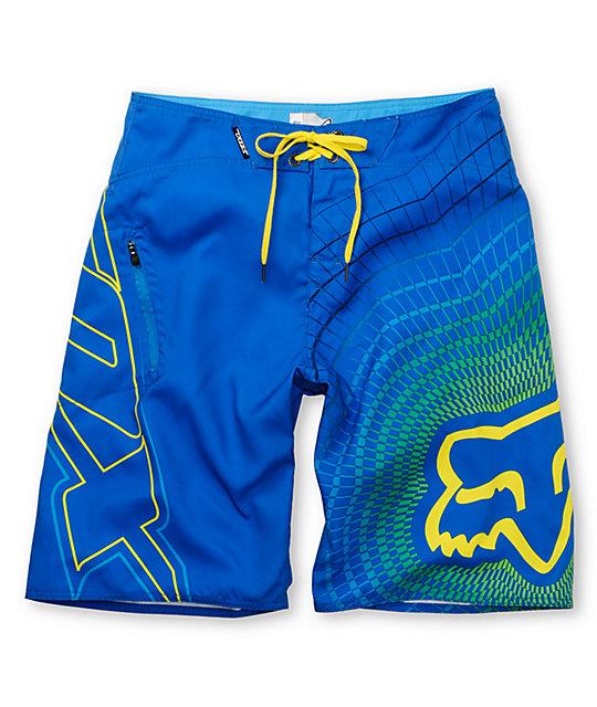 Fox V3 Blue Board Shorts