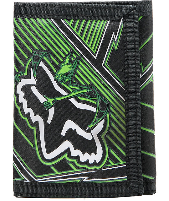 Fox Vamplifier Black Tri-Fold Wallet