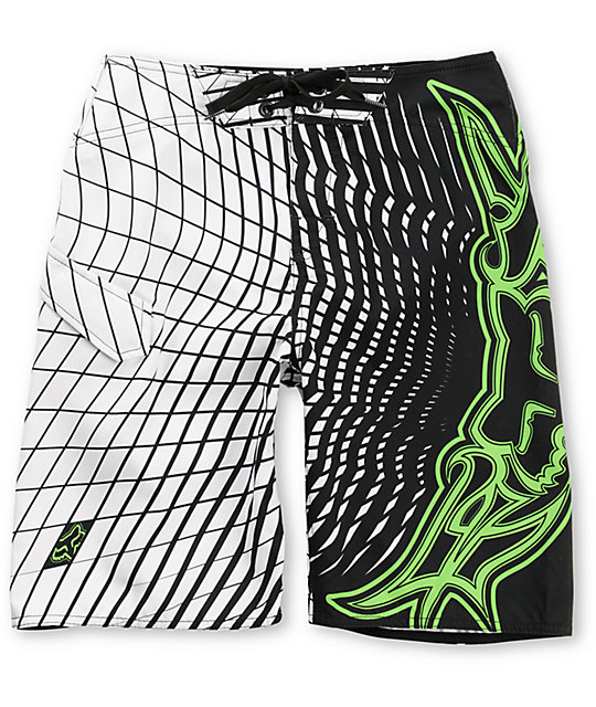Fox Vortex White Boys Board Shorts