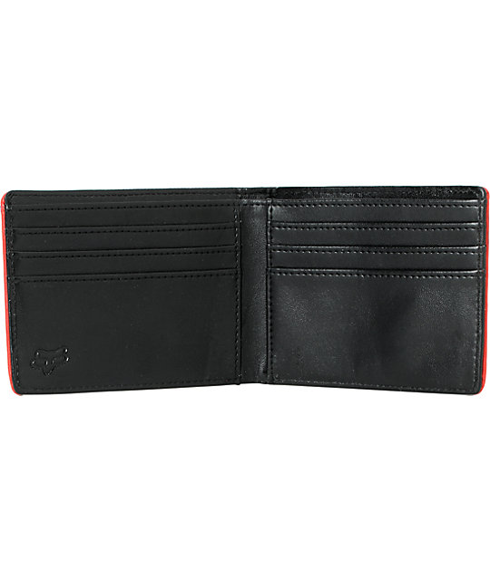 Fox Whacky Black & Red Bifold Wallet
