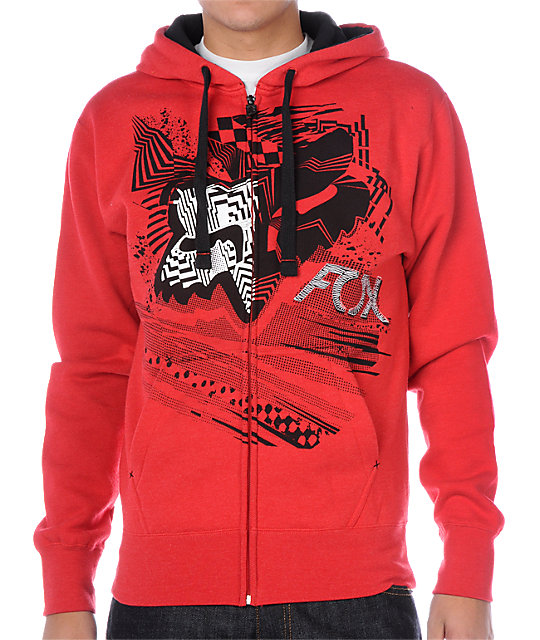Fox Wild In The Streets Red Hoodie