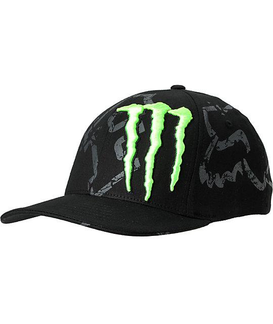 Fox x Monster Energy Carmichael Replica Down Black Hat