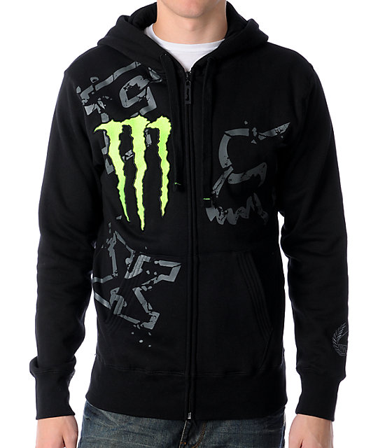 Fox x Monster Energy Ricky Carmichael Downfall Black Hoodie