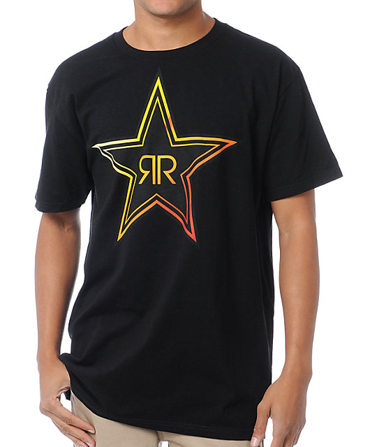 Fox x Rockstar Fades Black T-Shirt