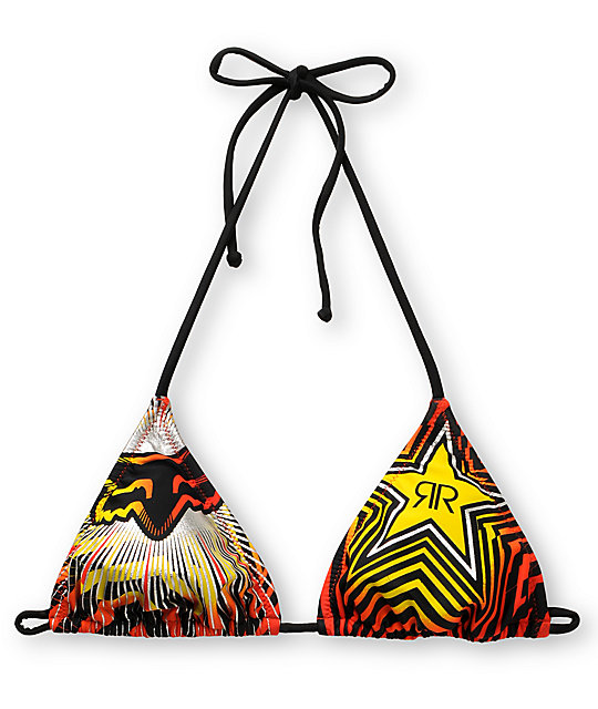 Fox x Rockstar Spike Vortex Bikini Top