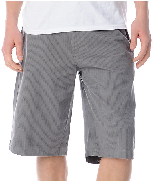 Free World Bandit Grey Pinstripe Shorts